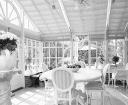 sunroom-addition black-white