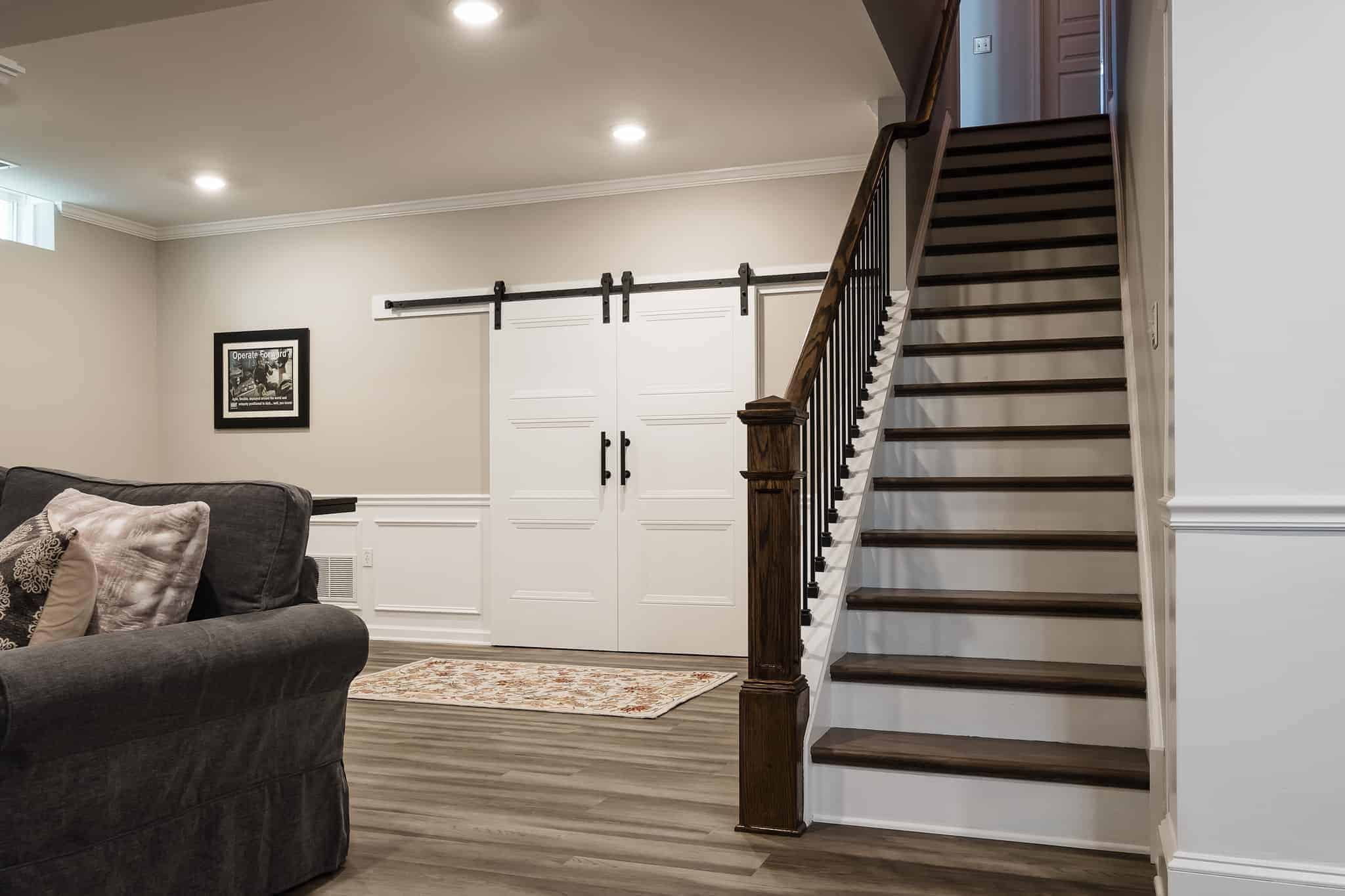 cozy basement remodel