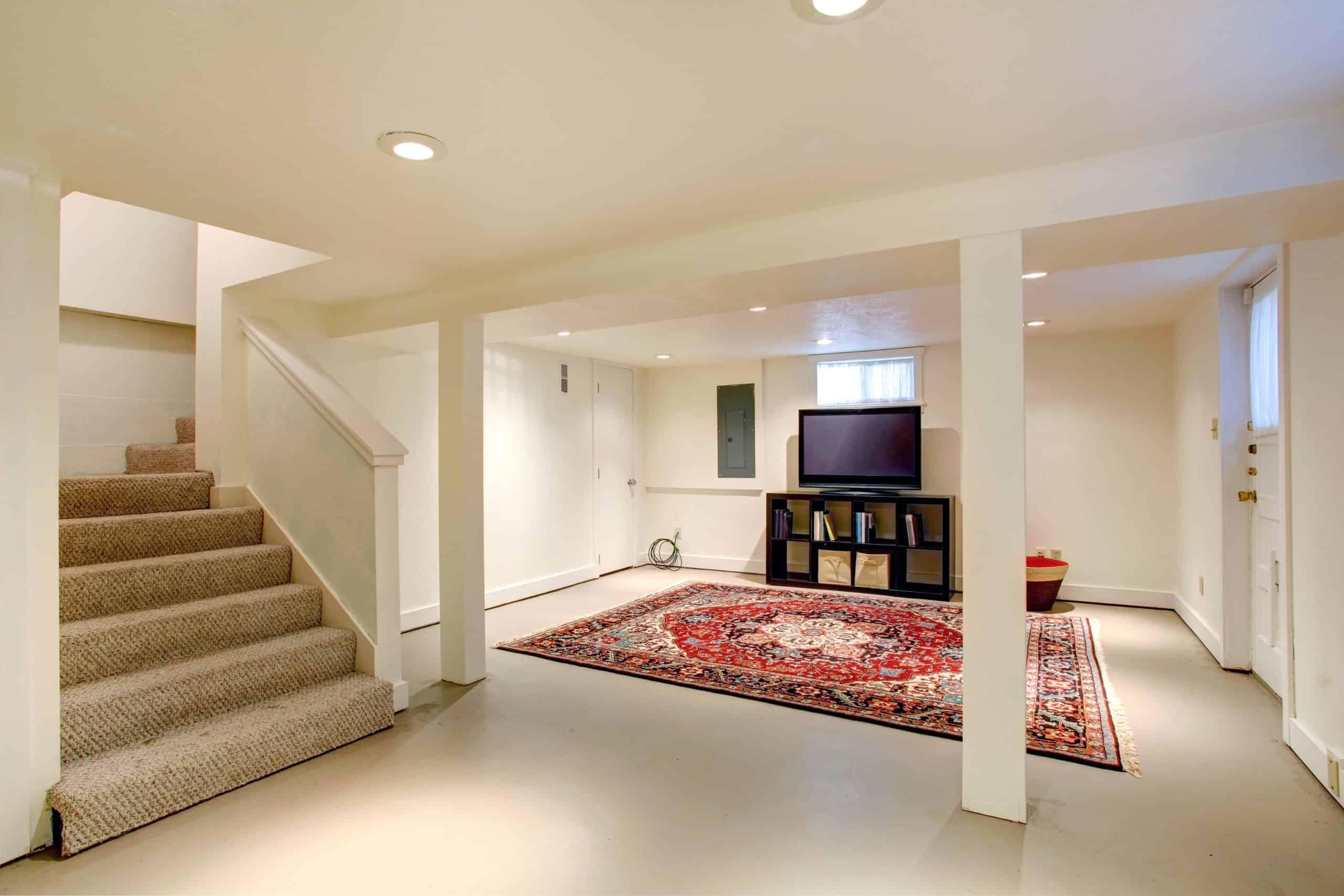 remodeled basement design